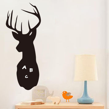 Kid Room Cartoon Black Deer Removable Room Decor Vinyl Decals DIY Wall Sticker SM6
