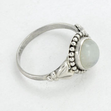 Moonstone Ring,Stacking Ring,June Birthstone Ring,Gemstone ring,Sterling Silver ring Moonstone Jewelry,solid Silver Ring size All 5 to 10 US