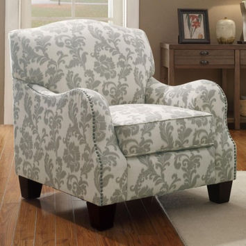 Mary Fleur Pattern Accent Chair