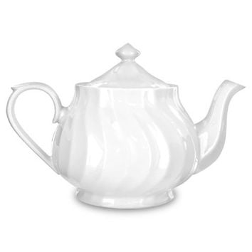 Imperial White Porcelain Teapot perfect for all events!