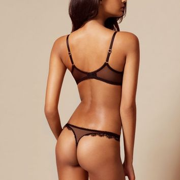 Saffi Black And Nude Thong