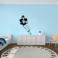 Housewares Sport American Football Player  Wall Vinyl Decal Sticker Any Room Decor V383