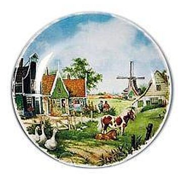 Souvenir Plate Duck and Pony Color