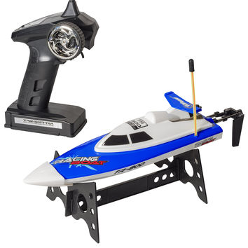 Top Race Remote Control Water Speed Boat Perfect Toy for Pools and Lakes BLUE 27Mhz (TR-800)