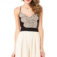 Lace Luna Dress in Black - ShopSosie.com