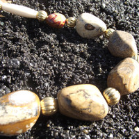 The Two-Jasper Gasper - Picture Jasper and Mookaite Jasper Necklace