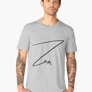"'""Zen"" hand drawn lettering' Men's Premium T-Shirt by BillOwenArt"