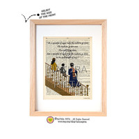 Mary Poppins Just a spoonful of sugar quote dictionary print-Poppins print-Nursery print-Poppins book page-Upcycled Dictionary-NATURA PICTA