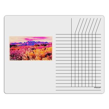 Colorful Colorado Mountains Chore List Grid Dry Erase Board by TooLoud
