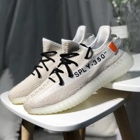 Off-White x adidas Yeezy Boost 350V2 Woman Men Fashion Sneakers Sport Shoes