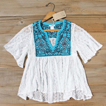 Rosewater Top in Turquoise