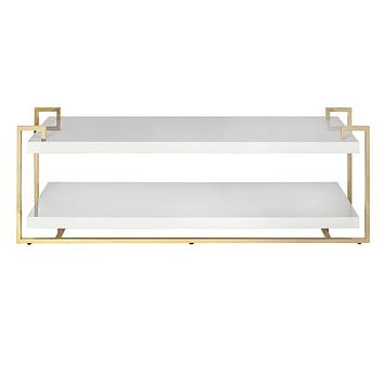 Worlds Away Mia Brass Two Tier Coffee Table