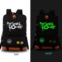 School Backpack My Chemical Romance school bag Punk band backpack student school bag Notebook backpack Leisure Daily backpack AT_48_3