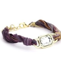 "Ettika ""Vintage Ribbon"" Multi-Purple Bracelet Gold Rectangular Gem: Jewelry: Amazon.com"