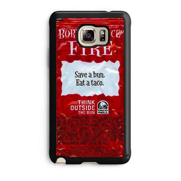 taco bell packet fire samsung galaxy note 5 note edge cases