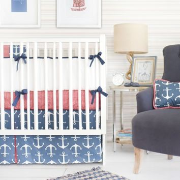 New Arrivals Anchors Away in Navy Baby Bedding