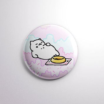 "NEKO ATSUME | TUBBS the Cat | 1"" pinback button badge pin 