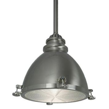 Home Decorators Collection 1-Light Brushed-Nickel Ceiling Metal Dome Pendant-25397-71 - The Home Depot