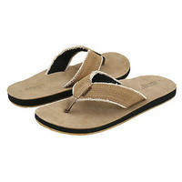 Reef Men's Surf and Saddle Tan Leather Sandals Flip Flop Shoes Size 7 US Beach