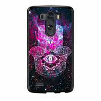 Evil Eye Hamsa Galaxy Nebula LG G3 Case