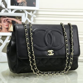 Chanel Women Leather Shoulder Bag Satchel Crossbody