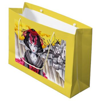 Cyborg Geisha Large Gift Bag