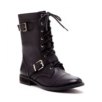 Sole Society Nessie Buckle Combat Boot