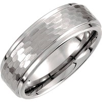 Tungsten Men's Wedding Band 8.3mm