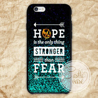 The Hunger games hope quotes iPhone 4/4S, 5/5S, 5C Series, Samsung Galaxy S3, Samsung Galaxy S4, Samsung Galaxy S5 - Hard Plastic, Rubber Case