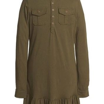 Girl's Ralph Lauren Military Dress,