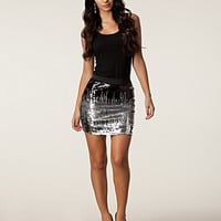 Digital Sequins Skirt, Only