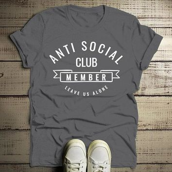 Men's Funny T Shirt Anti Social Club Tshirt Leave Us Alone Gift Idea Tee