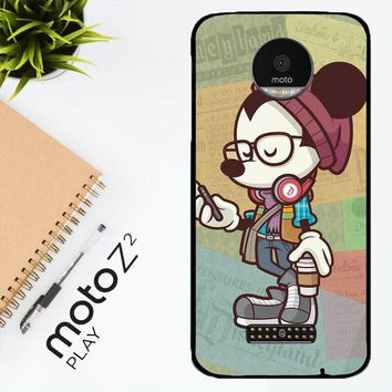 Hipster Mickey Mouse L1579 Motorola Moto Z2 Play Case