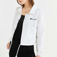 Champion Cropped Coach Jacket   Urban Outfitters