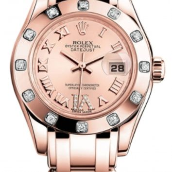 Rolex - Datejust Pearlmaster Lady Everose Gold - 12 Diamond Bezel