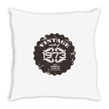 vintage made of 1973 all original parts Throw Pillow
