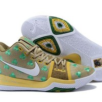 Nike Kyrie Irving 3 Dark Gold/Green Sport Shoes US7-12