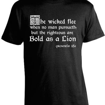 Proverbs 28:1 Bible Quote T-Shirt
