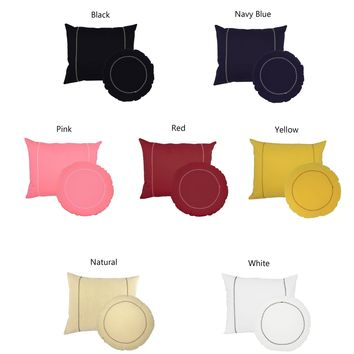 Solid Color Round and Rectangle Throw Pillows