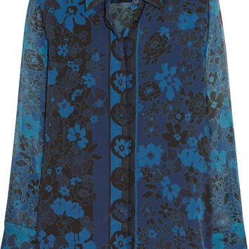 Equipment Darcy floral-print silk-chiffon blouse – 50% at THE OUTNET.COM