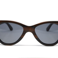 Hand-crafted Dark Wood Sustainable Sunglasses with Polarized Lenses