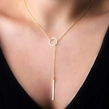 Stylish Jewelry Gift New Arrival Shiny Simple Design Simple Metal Chain Necklace [8026334151]