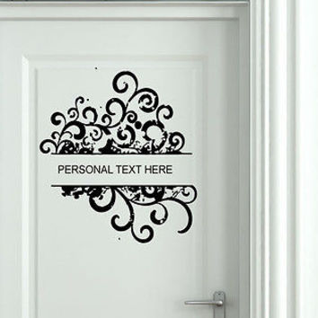 Wall Mural Vinyl Decal Sticker Sign Door Frame Personalized Text Name AL264