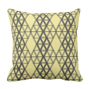 Geometry Obsession Throw Pillow / Cushion