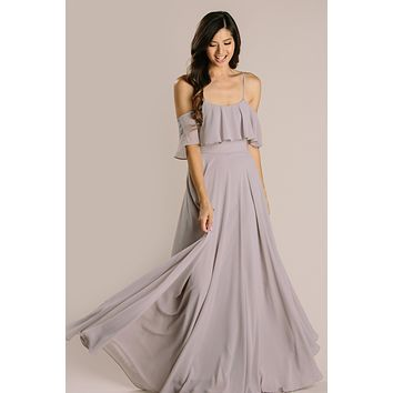 Adele Ruffle Maxi Dress