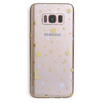 Starry Night Clear Samsung Case
