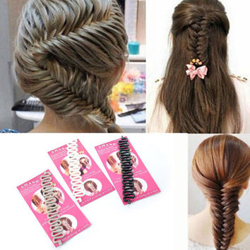 1pc Hot Sell French Braid Tool Quality Magic Hair Accessories With Hook Hair Brid Twist Styling Maker