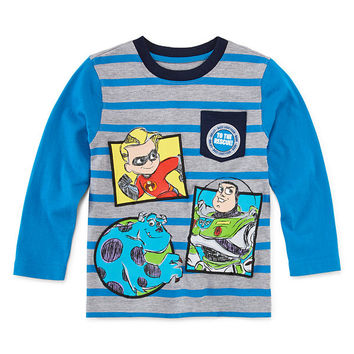 Okie Dokie Pixar Striped T-Shirt - Toddler 2T-5T - JCPenney