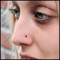 Black Diamond Style Gold Nose Stud - CUSTOMIZE