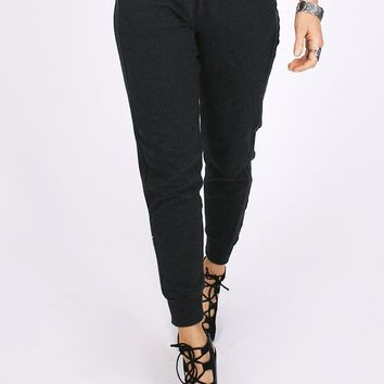 Cruise Control Track Pants In Charcoal